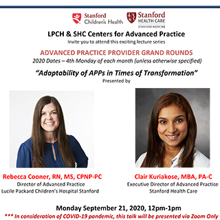 APP Grand Rounds September 2020 - Adaptability of APPs in Times of Transformation Banner