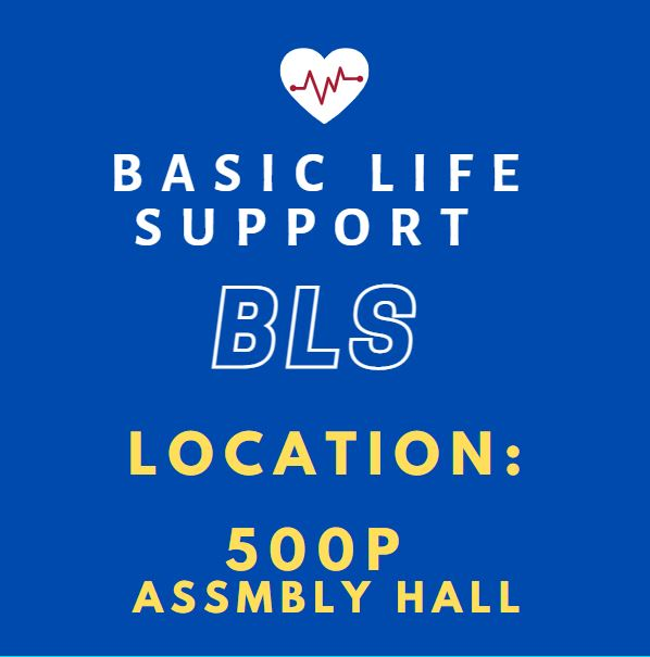 BLS HeartCode Online & Skills Check (500P Assembly Hall) Banner