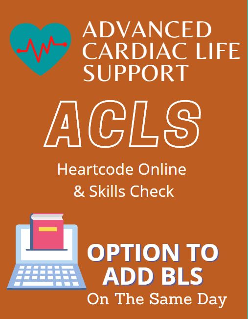 ACLS HeartCode Online & Skills Check Banner
